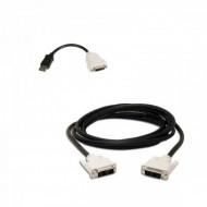 Adaptor cablu DisplayPort to DVI-D + cablu DVI-D to DVI-D